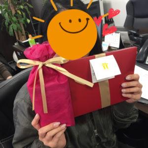 営業の大平さんのお誕生日でした♪おめでとうございます(^^)