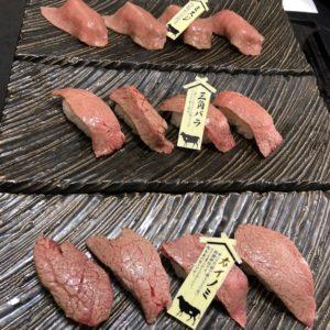 お昼にお寿司屋さん【たから船】にて忘年会を開かせて頂きました☆肉寿司美味です!!♡