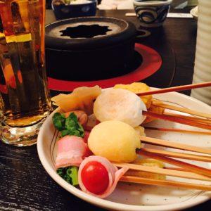 自分で揚げれる天ぷら食べに行きました♬ 菜の花の天ぷらが美味しすぎました☺♡