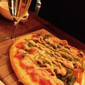 おいしいピザが食べたくて🍴明太子のピザ✨