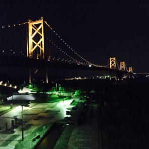 瀬戸大橋の途中でサービスエリアがありました★そこの展望台からの写真です♪きれいですね\(^o^)/