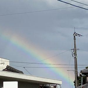 郵便局へ行ったら虹が出てました🌈✨