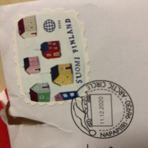 今年も我が家にフィンランドのサンタさんから手紙が届きました🎄!子供も早く開けたくてビリビリ開けてました(笑)